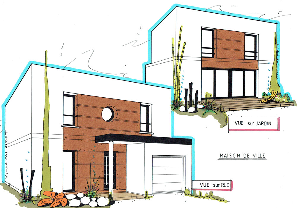 Plans maison moderne nos r alisations villa cap ouest for Villa maison plans photos